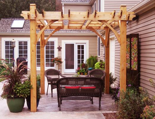 8 Fantastic Country House Pergola Furniture and Decoration Ideas and Examples