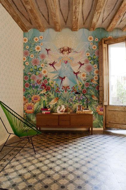 Creative Art Green Wallpaper - Green Room Home Decor Ideas - The Jungle Inspiration