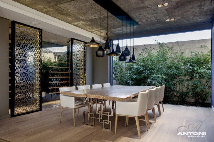 Dining room in a very luxurious design, opened to the outside - Contemporary and Luxury House Interior Design in Cape Town