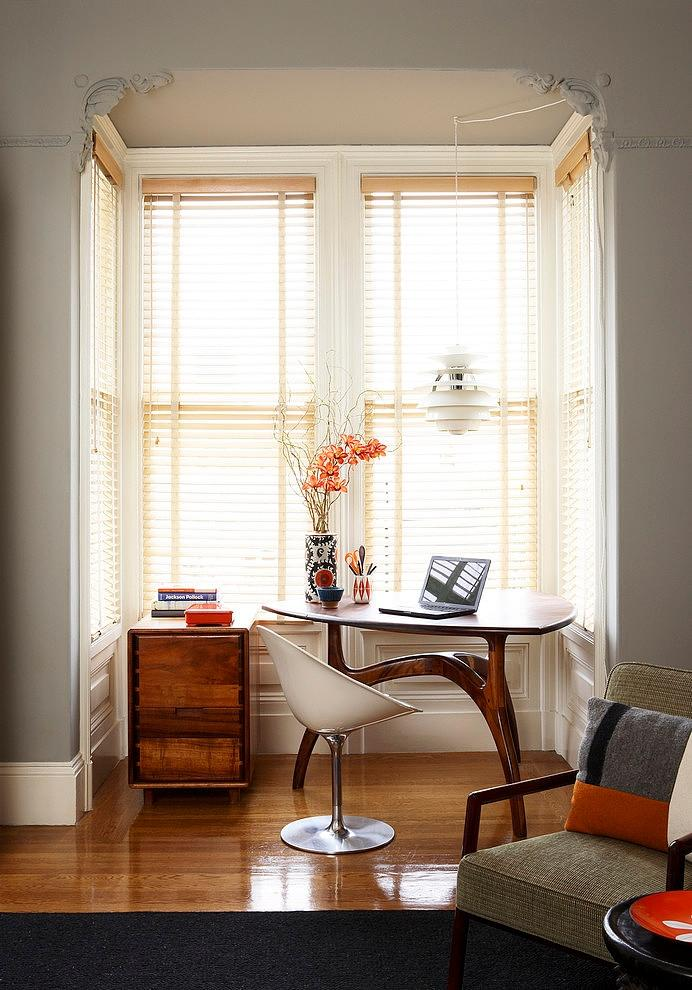 Edwardian home with working corner and deks in it - The Eclectic Interior Design of an Edwardian Home in S.F.