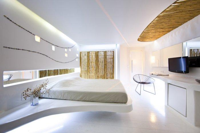 futuristic hotel interior design andronikos mykonos. Black Bedroom Furniture Sets. Home Design Ideas