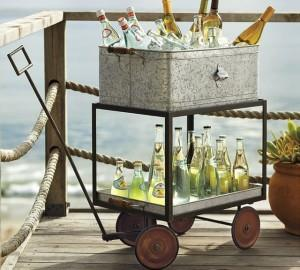 Galvanized Metal Ice Bucket - Summer Garden Party and Fun Ideas, Tips and Examples
