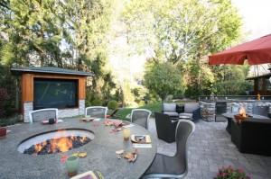 Garden Furniture Ideas for Entertainment - Outdoor Media Entertainment Room for Garden Fun