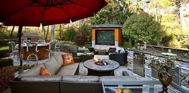 Outdoor Media Entertainment Room For Garden Fun Founterior