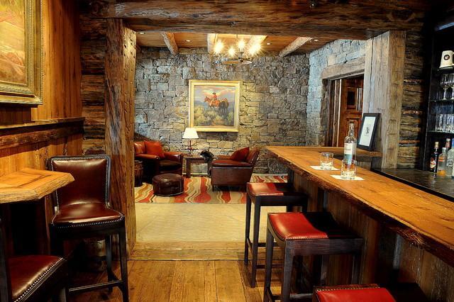 Mountain Lodge Rustic Interior Design In Montana Usa