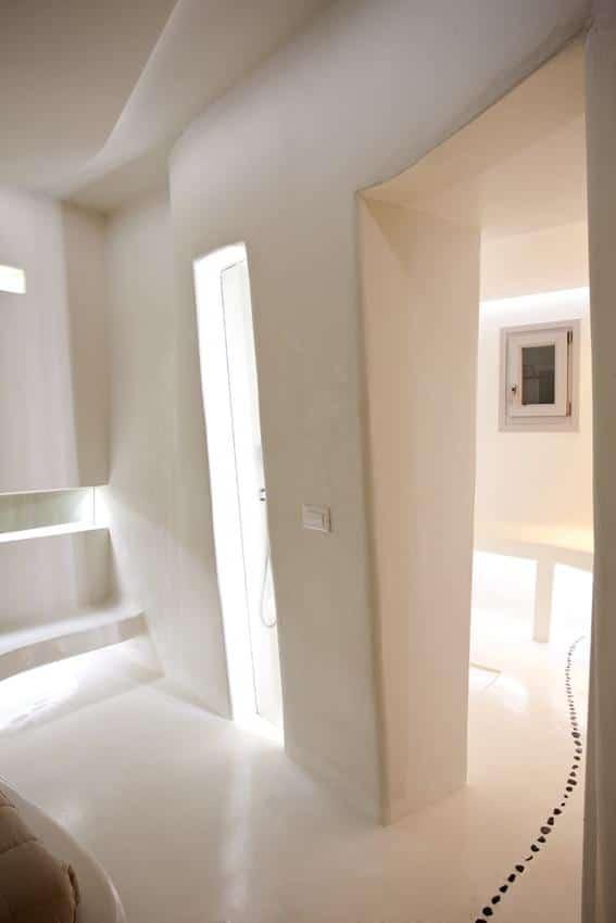 Hotel room toilet and bathroom - Andronikos, Mykonos