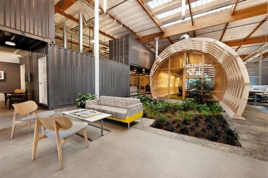 industrial and sustainable office interior design cuningham group