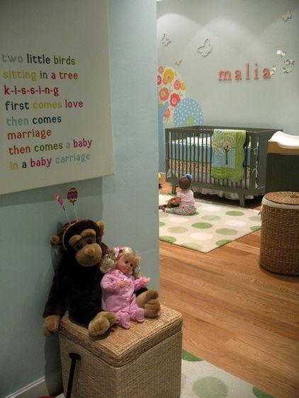 Malia – baby name written on a wall - Home Decor Trends in the Nursery – Words & Quotes on the Wall