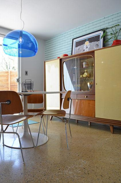 Mid century modern cupboard - Eclectic Dallas Home with Mid-Century Interior Design