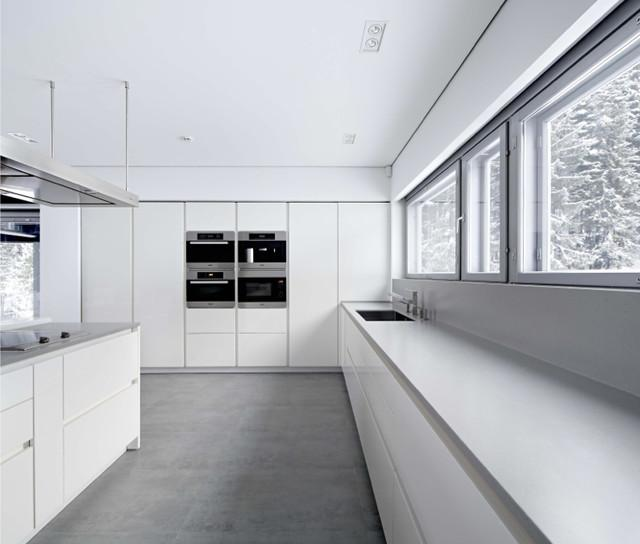 Minimalist kitchen with tiled flooring - Tile Trends - The Coverings in Atlanta 2013