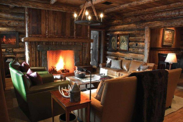High Quality Mountain Lodge Rustic Interior Design In Montana, USA