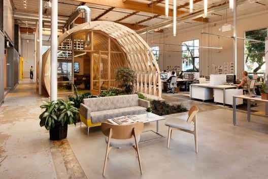 Office resting place and leisure area - Sustainable Office Interior Design - Cuningham Group