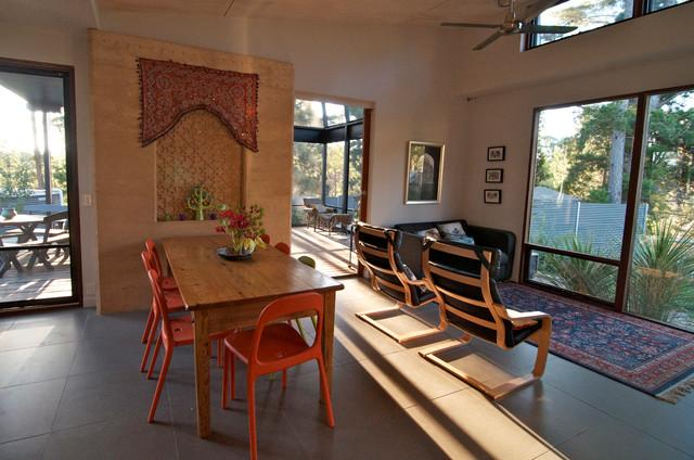 Open dining area with table and chairs - Sustainable Home Interior Design - an Exciting Review