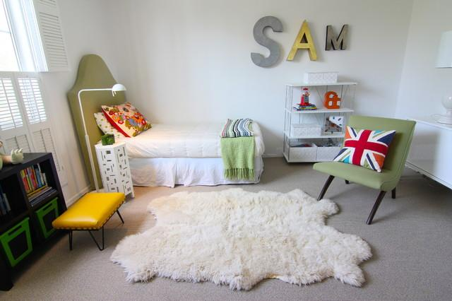 Sam – baby name written on a wall - Home Decor Trends in the Nursery – Words & Quotes on the Wall