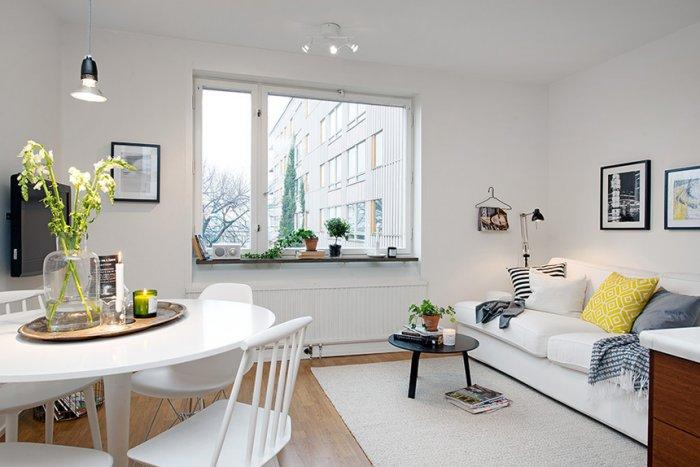 Scandinavian small apartment interior design in gothenburg founterior - Idee deco studio 30 m2 ...
