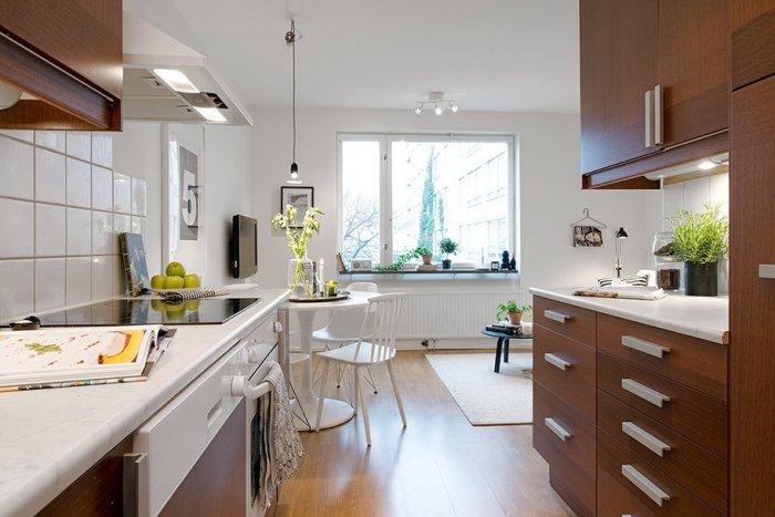 Small functional kitchen design - Scandinavian Small Apartment Interior Design in Gothenburg