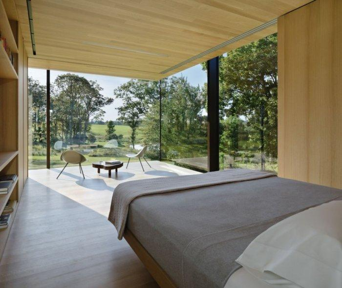 Spacious Glazed Bedroom - Amazing Sustainable House Architecture and Design