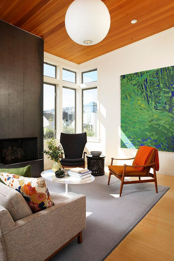 Sunny living room interior - The Eclectic Interior Design of an Edwardian Home in S.F.