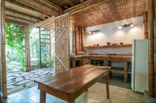 Bamboo House - Sustainable kitchen interior design in Nicaragua