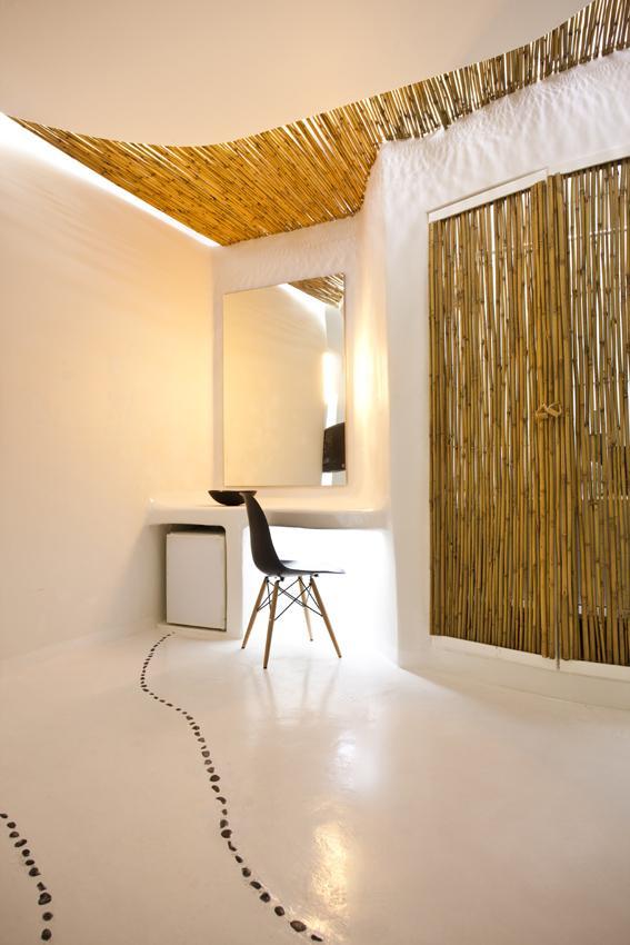 Futuristic Hotel Interior Design - One of the rooms in Andronikos hotel in Mykonos, Greece