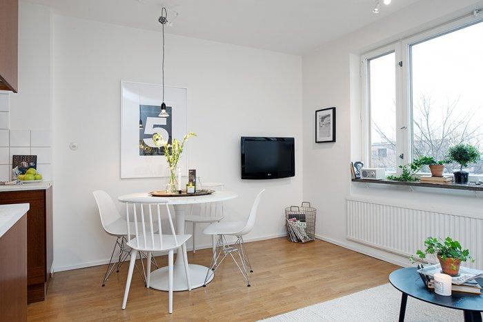 Tiny Dining Area Functional Design   Scandinavian Small Apartment Interior  Design In Gothenburg