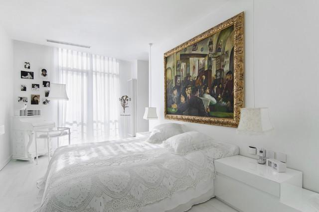 White And Cozy Bedroom Interior Design