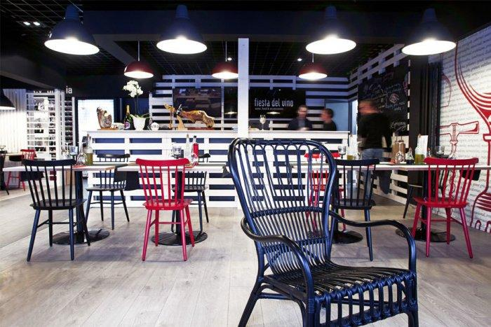 Cozy Wine Shop Architectural Plan Segmentation