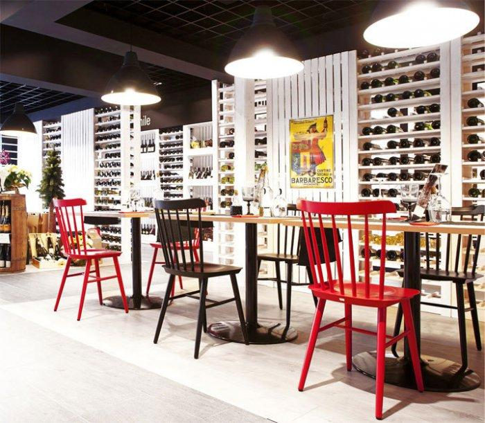 Cozy Wine Shop Degustating Tables Design and Architecture