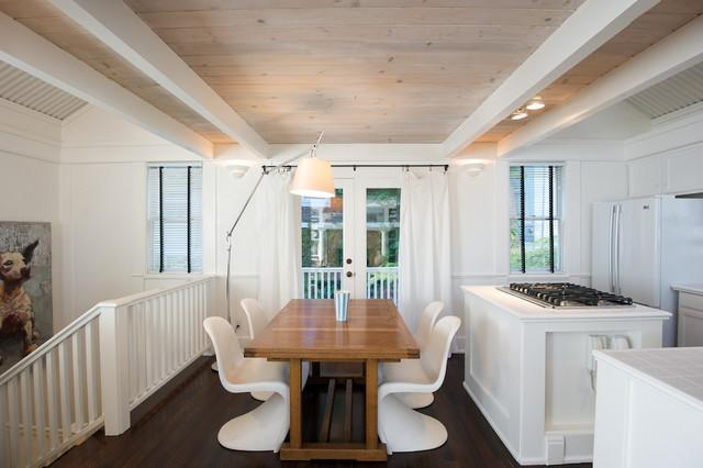 Wooden Dining Table In A Room White