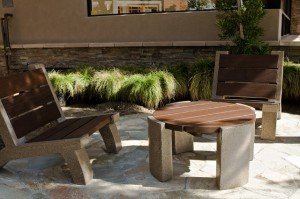 Wooden Patio Table and Bench - Patio And Outdoor Furniture Ideas and Examples