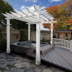 Jacuzzi under wooden Pergola- Summer Garden Party and Fun Ideas, Tips and Examples