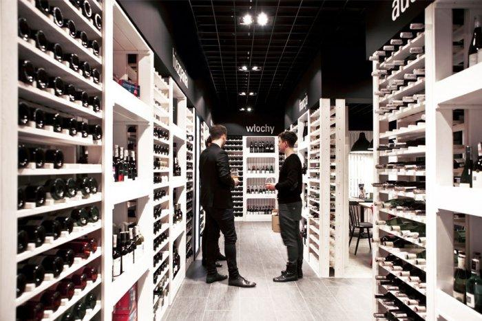Wooden Racks for Wine Collections - Cozy Wine Shop and Restaurant Design and Architecture