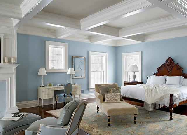 Blue and white bedroom color ideas for Healthy Sleep