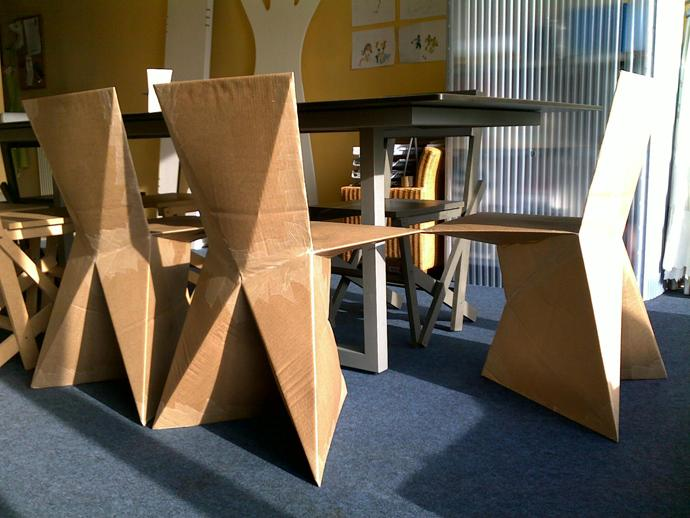 100% Recyclable Cardboard dining room chairs Design Ideas