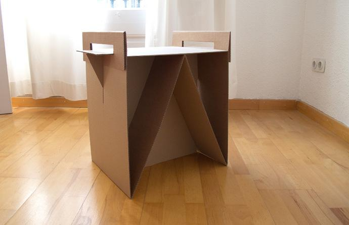 100% Recyclable Cardboard kid desk Design Ideas