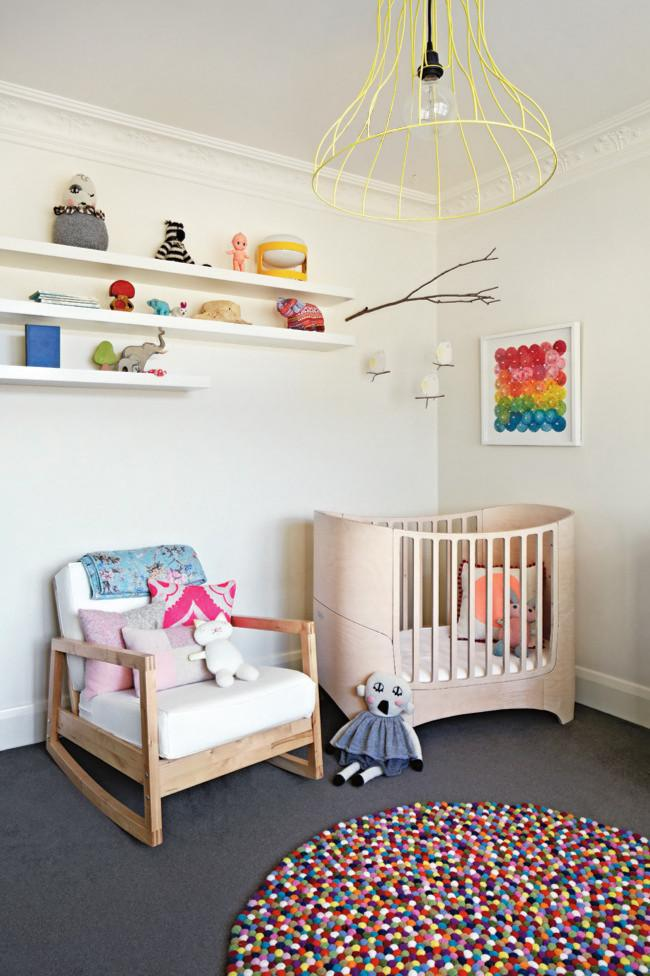 Colorful carpet and wooden armchair - Fresh Kids Room Interior Design Ideas and Tips