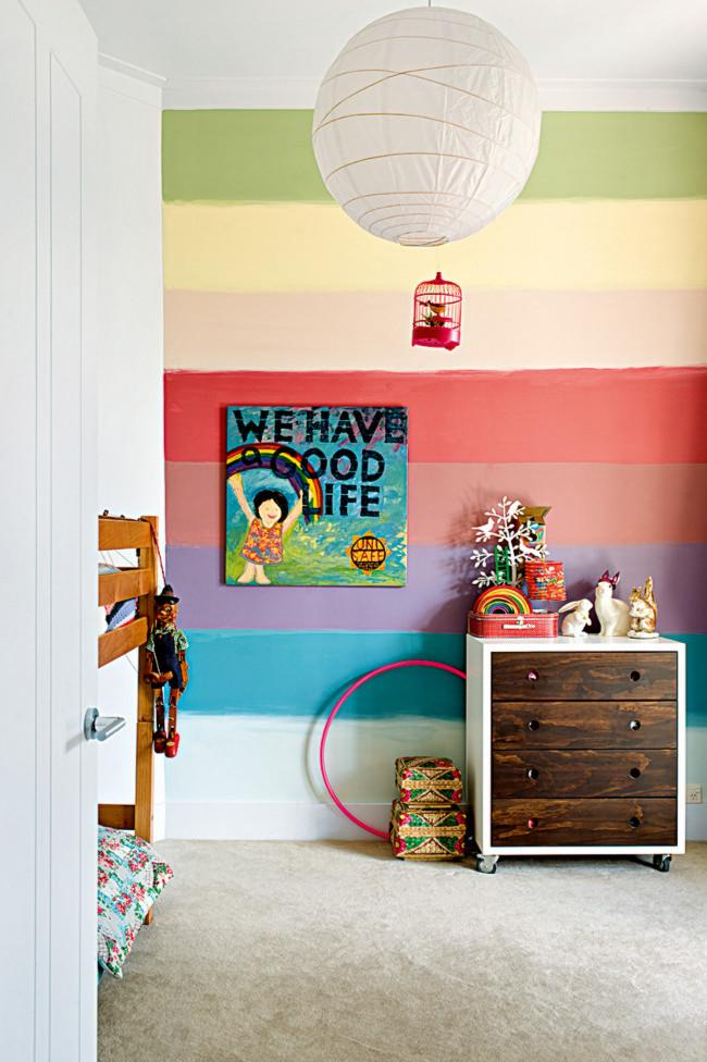 Fresh kids room interior design ideas and tips founterior for Rainbow kids room