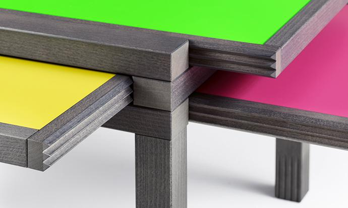 Colorful table slides - Versatile and Flexible Furniture