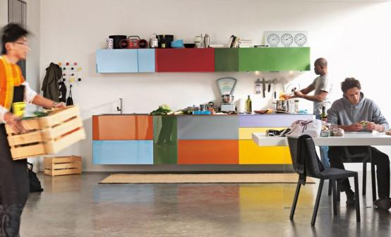 Fresh andContemporary colorful kitchen design Ideas for Kitchen Furniture