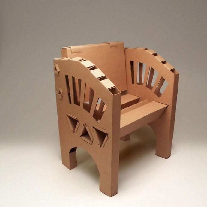100% Recyclable Creative cardboard chair Design Ideas