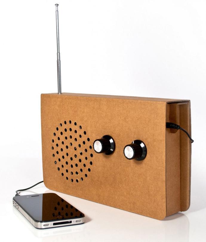 100% Recyclable Creative cardboard radio Design Ideas