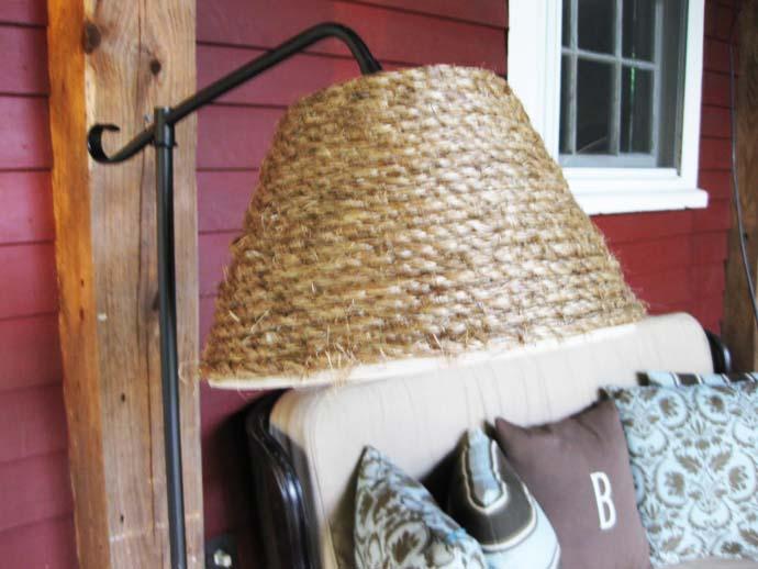 Creative decorative lamp shade - Rustic Interior Decoration Ideas with Ropes