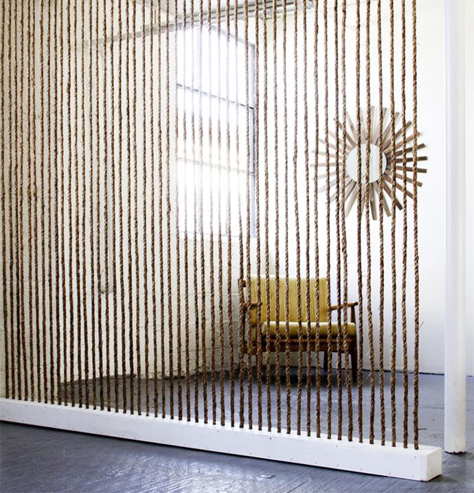 Decorative rope wall - Rustic Interior Decoration Ideas with Ropes