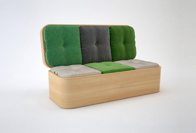 The Hottest Flexible Furniture - Flexible sofa design on a wooden platform
