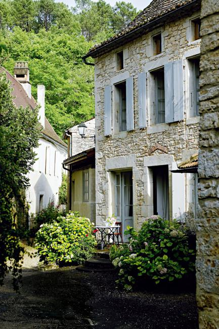 French country home stone facade in Paris