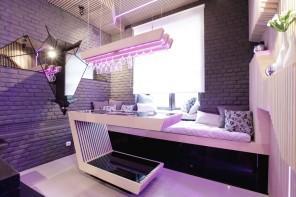 Modern Small Kitchen Futuristic Interior Design by Geometrix