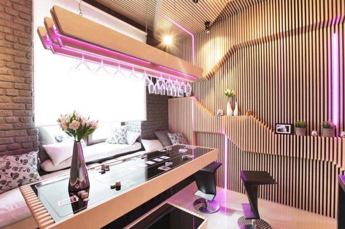 Futuristic small kitchen Design by Geometrix