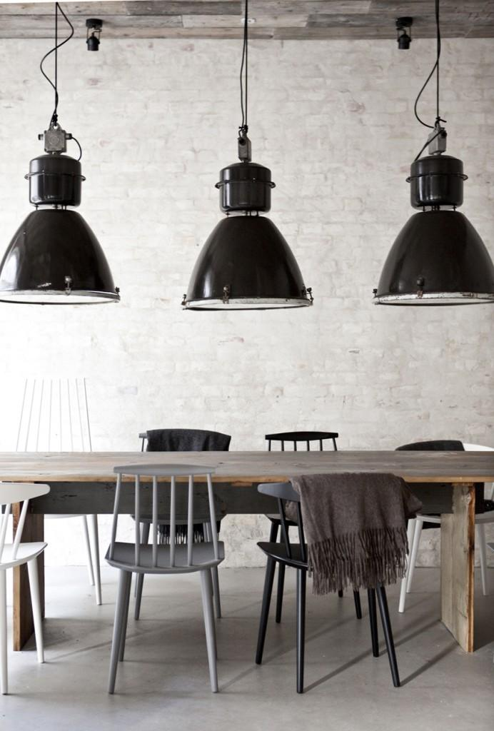 Black Industrial Light Part - 32: Fantastic Decorating Ideas With Industrial Lighting