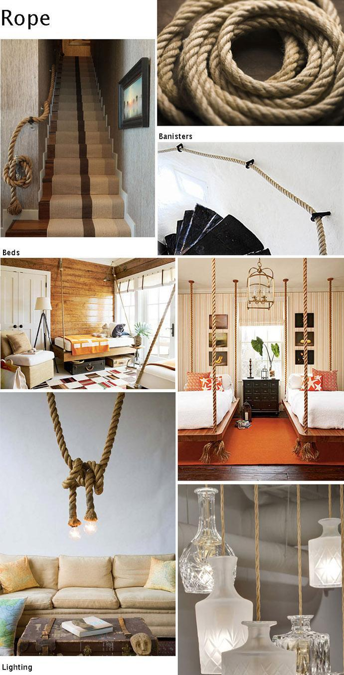Interior Decoration Ideas with Ropes