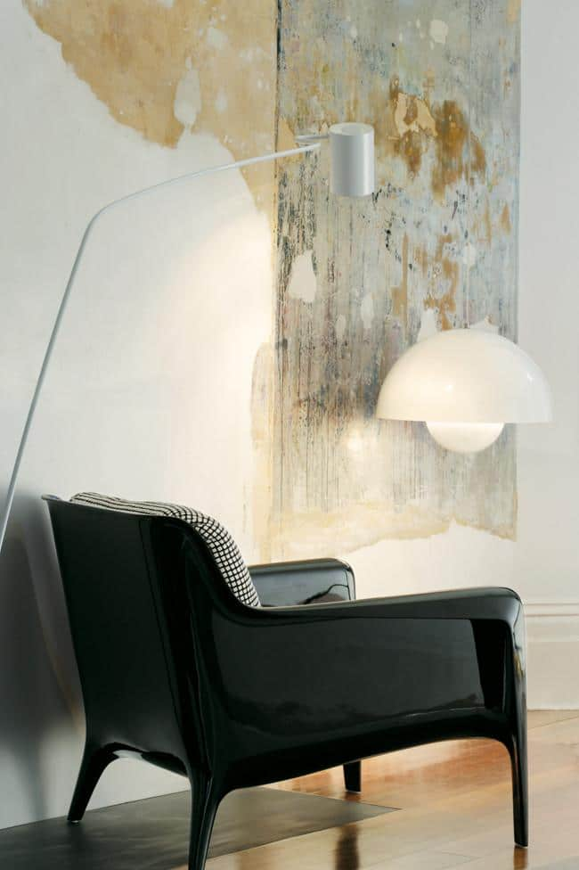 Leather eccentric urban armchair - Fantastic Decorating Ideas with Industrial Lighting